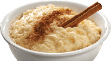 Bowl of Fresh Rice Pudding
